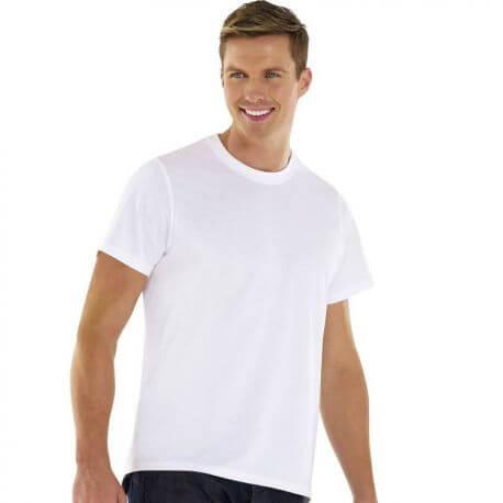T-shirt homme coton bio col rond, manches courtes, 180 g/m²