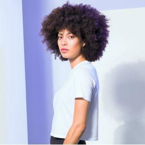 T-shirt court pour femme, coupe carrée oversize, 140 g/m²