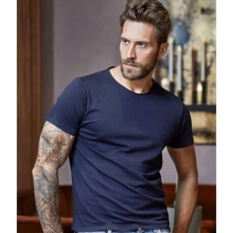 T-shirt homme décontracté col large en coton, 160 g/m²