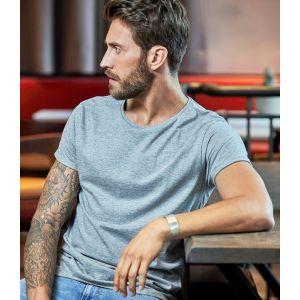 T-shirt homme décontracté manches courtes retroussées, 160 g/m²