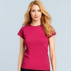 T-shirt femme manches courtes en coton ringspun softstyle, 150 g/m²
