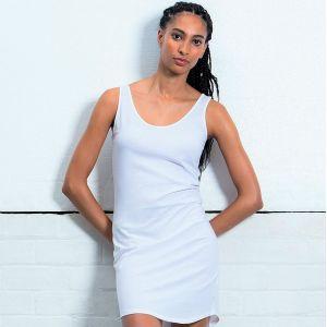 Robe Débardeur femme en coton bio avec large décolleté, 150 g/m²