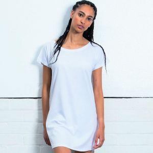 Robe t-shirt femme en coton bio avec large décolleté, 150 g/m²