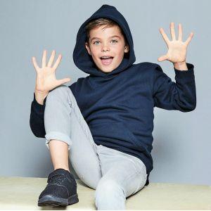 Sweat enfant hoodie à capuche doublée, accès MP3, 280 g/m²