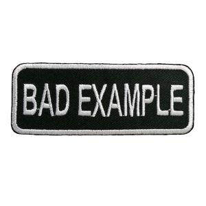 Petit patch brodé thermocollant BAD EXAMPLE