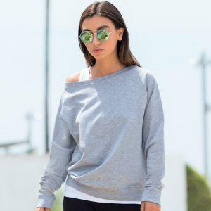 Sweat-shirt femme Slounge coupe décontractée, manches raglan, 250 g/m²