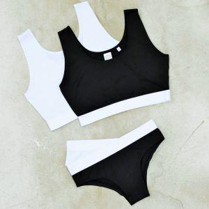 Culotte fashion pour femme, ceinture élastique et douce, 240 g/m²