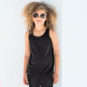 Débardeur stretch enfant cintré en coton et élasthanne, 165 g/m²