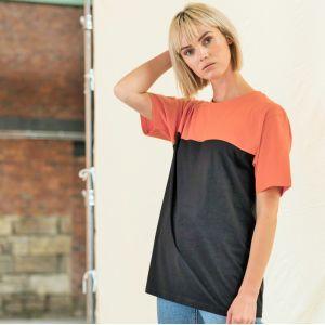 """T-shirt unisexe bicolore manches courtes, coupe moderne, """"No Label"""", 140 g/m²"""