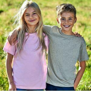 T-shirt enfant manches courtes en coton BIO certifié commerce équitable, 155 g/m²