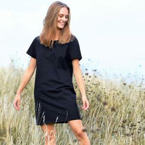 T-shirt femme coupe extra longue en coton BIO commerce équitable, 155 g/m²