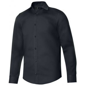 Chemise homme manches longues col italien en polycoton, 115 g/m²