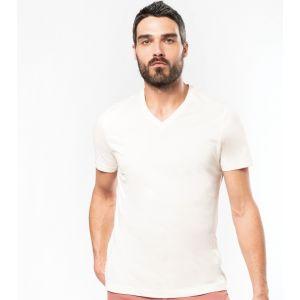 [PROMO] T-shirt homme coL V en coton bio coupe ajustée, 140 g/m²