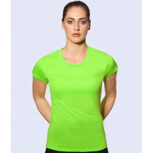 T-shirt de sport femme pas cher respirant, protection UV, 150 g/m²