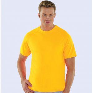 T-shirt de sport homme respirant en micro polyester, séchage rapide, 145 g/m²