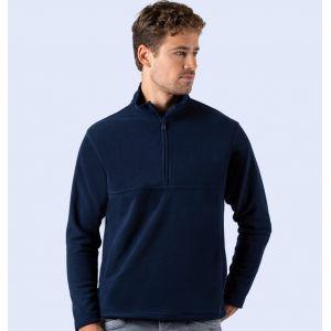 Veste polaire col zippé ton sur ton anti-peluche pas chère, 330 g/m²