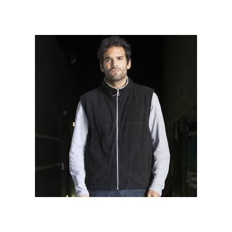 Gilet micropolaire polyester anti-pilling, 300 g/m²