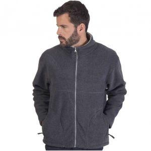 Veste polaire homme anti-peluche, 2 poches latérales zippées, 300 g/m²