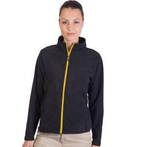 Veste polaire femme moderne, zip principal et zips poches contrastés, 300 g/m²