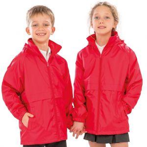 Veste enfant coupe-vent légère à capuche dans le col, 180 g/m²
