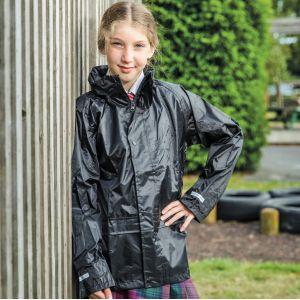 Veste enfant à capuche coupe-vent et imperméable